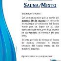 Refacción Sauna Mixto