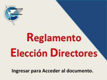 Reglamento de Elección de Directores