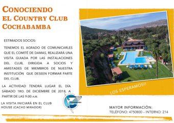 Conociendo el Country Club Cochabamba