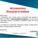 Recordatorio Renovación Alquiler Casilleros