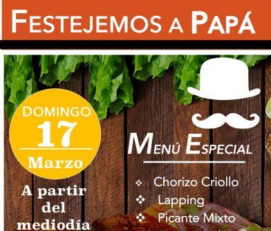 Este domingo 17 de marzo, festejamos por adelantado a Papá!!