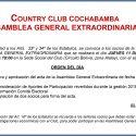 Convocatoria Asamblea General Extraordinaria