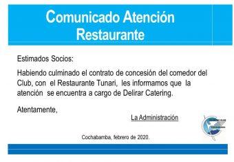 Comunicado Restaurante