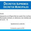 Decretos Supremos y Municipales COVID-19