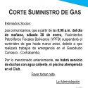 Corte Suministro de Gas