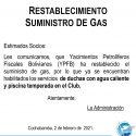 Restablecimiento Suministro de Gas