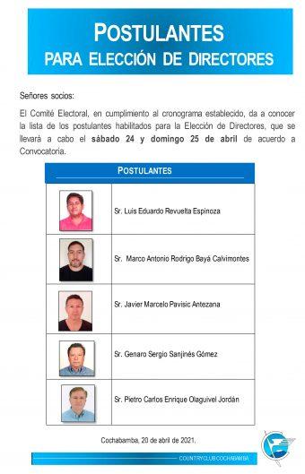 Postulantes Elección de Directores