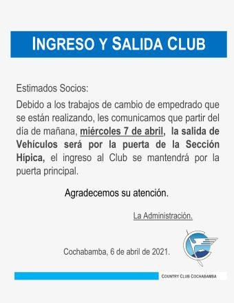 Ingreso y Salida Club