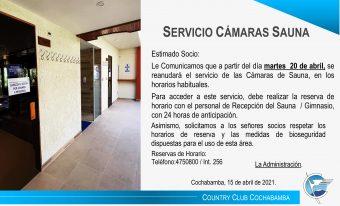 Servicio Cámaras Sauna