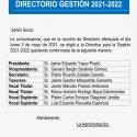 Conformación de Directorio 2021/2022